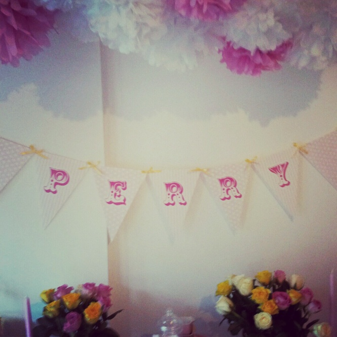 Perry bunting & Pom poms